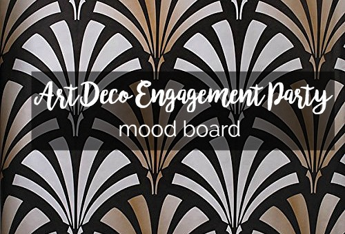 Mood Board: Art Deco Engagement Party | Palmetto State Weddings