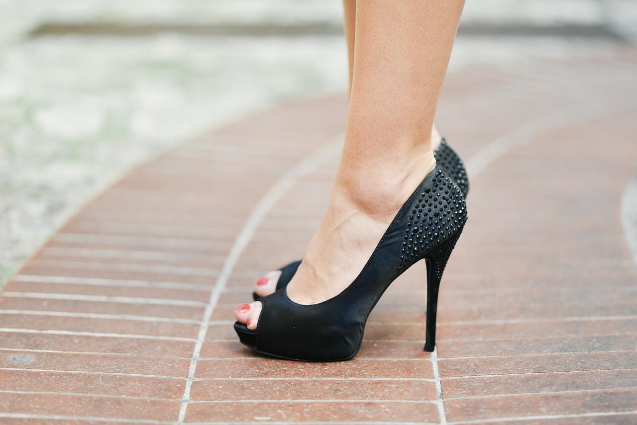 Black heels via  Amazon