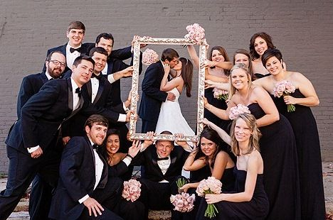Black and white wedding photo via  Matt Andrews Photography