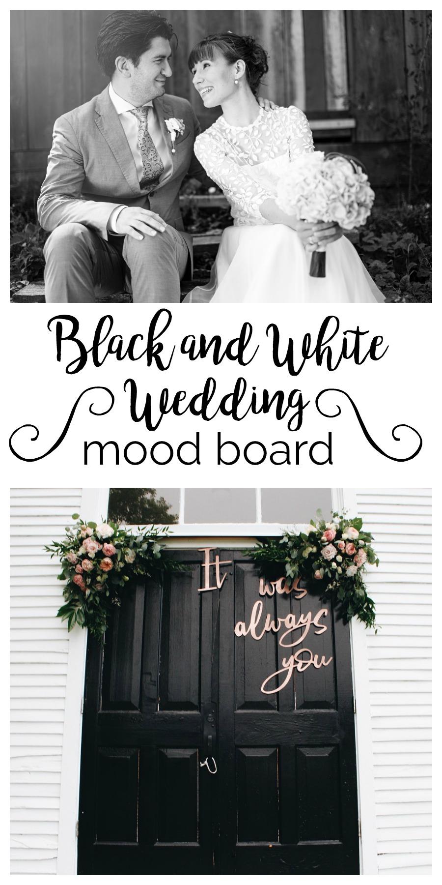 Mood Board: Black and White Wedding | Palmetto State Weddings