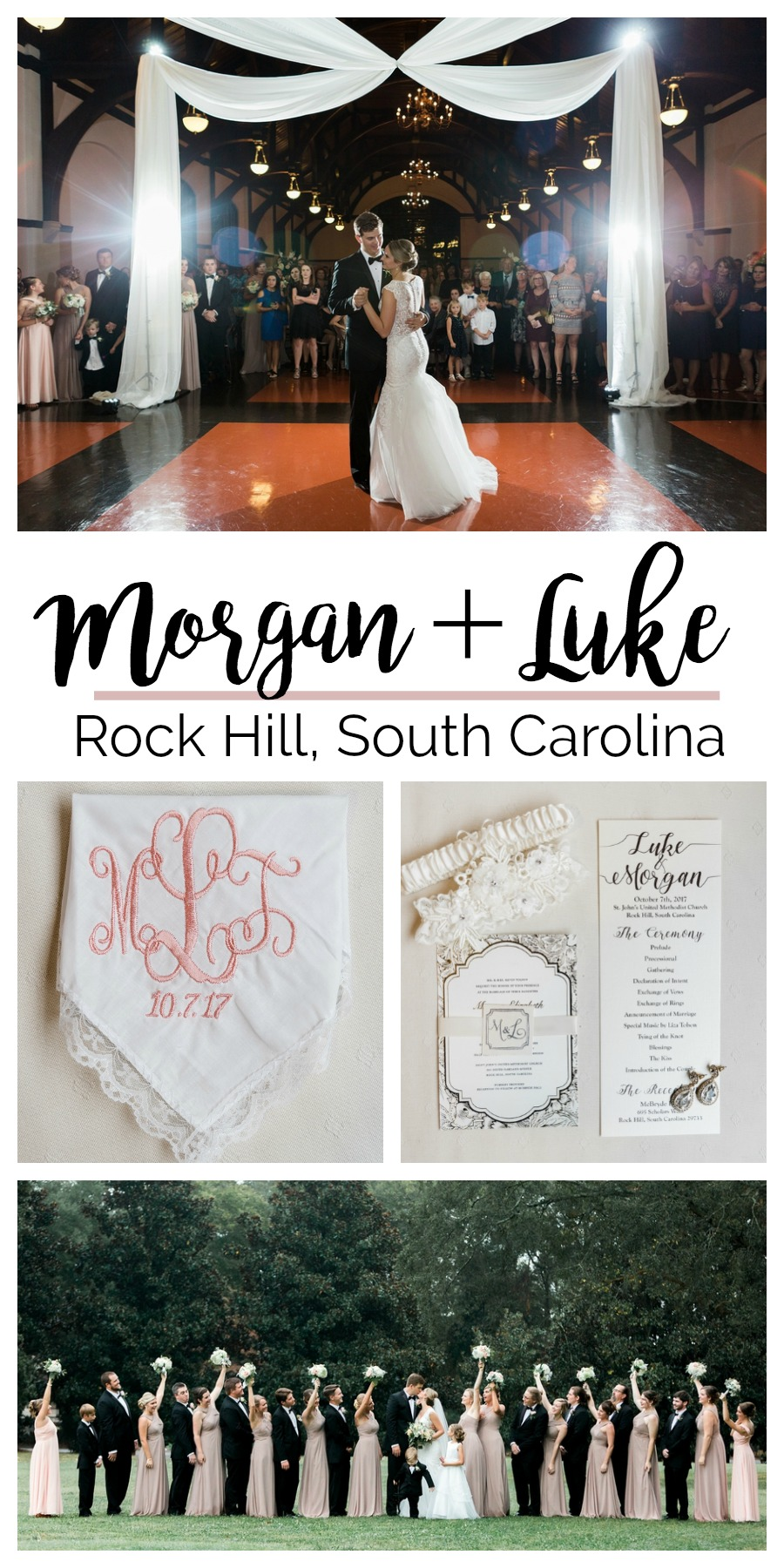 Morgan + Luke : A Winthrop University Wedding for High School Sweethearts   Palmetto State Weddings   Photography by Aaron Reel Photography