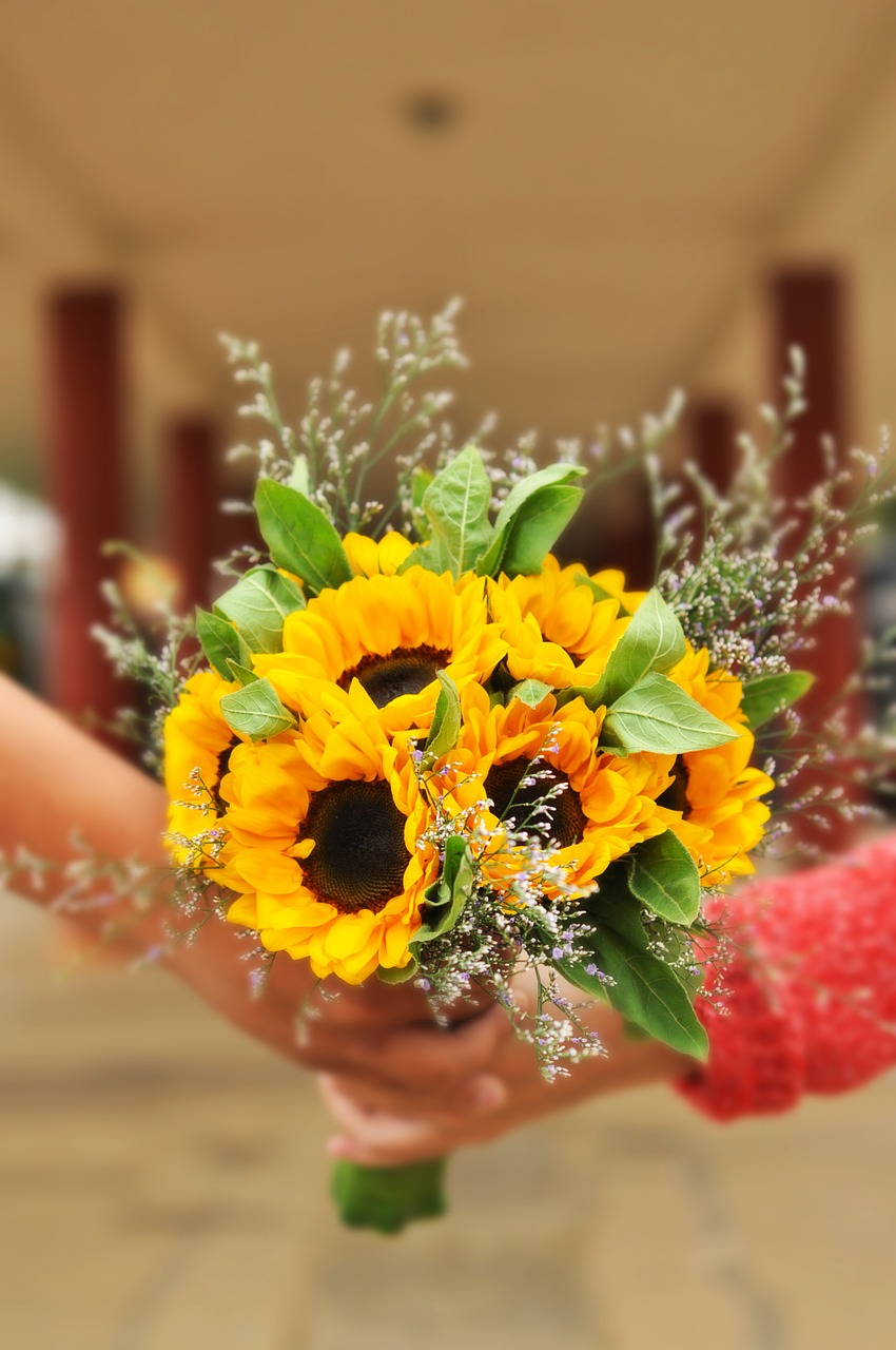 Sunflower Bouquets via Fifty Flowers