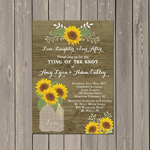 Sunflower Wedding Invitation via Amazon Handmade