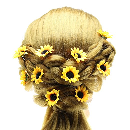 Sunflower Hair Pins via Amazon