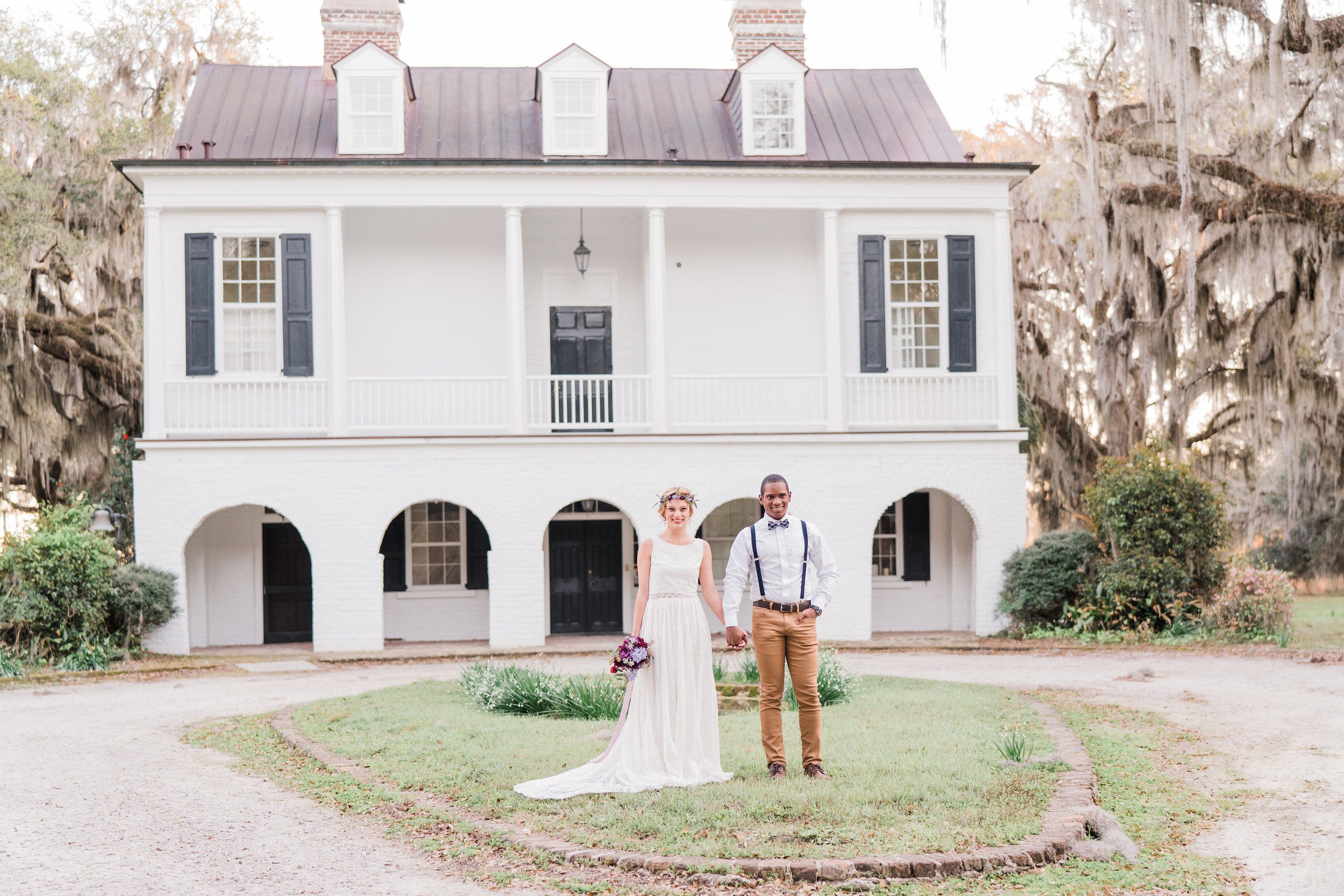Wedding Inspiration: Boho Elopement Styled Shoot at Grove Plantation House | Palmetto State Weddings