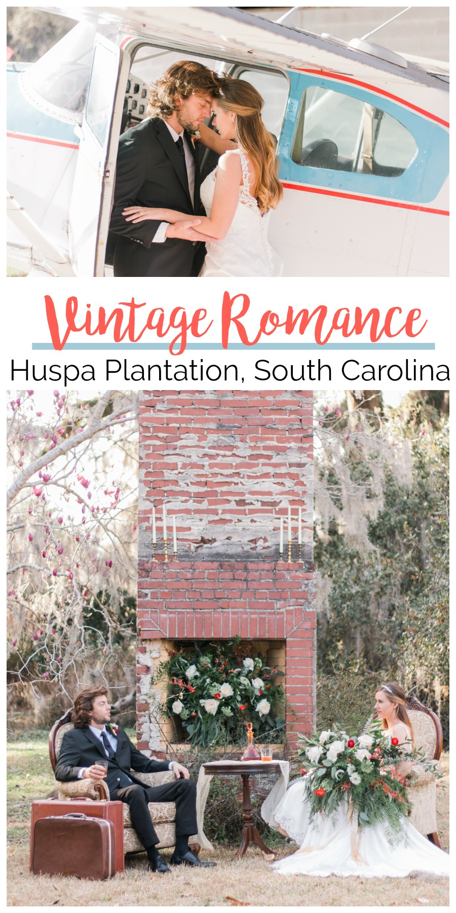 Wedding Inspiration: Vintage Romance at Huspa Plantation, Seabrook, South Carolina | Palmetto State Weddings | Photos by Bluebell Photography