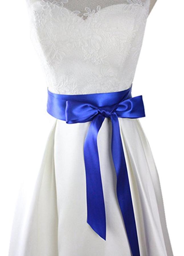 Silk wedding dress sash | via  Amazon