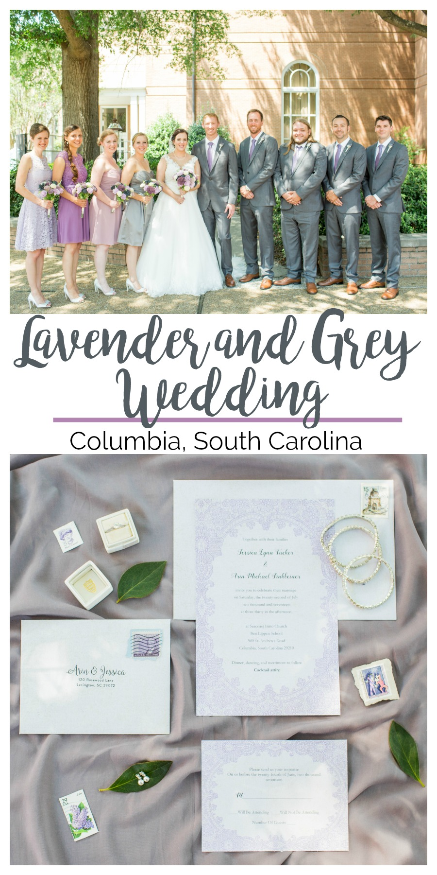 Jessica + Arin: A Columbia Church Wedding in Lavender and Grey | Palmetto State Weddings | photography by Jessica Hunt Photography