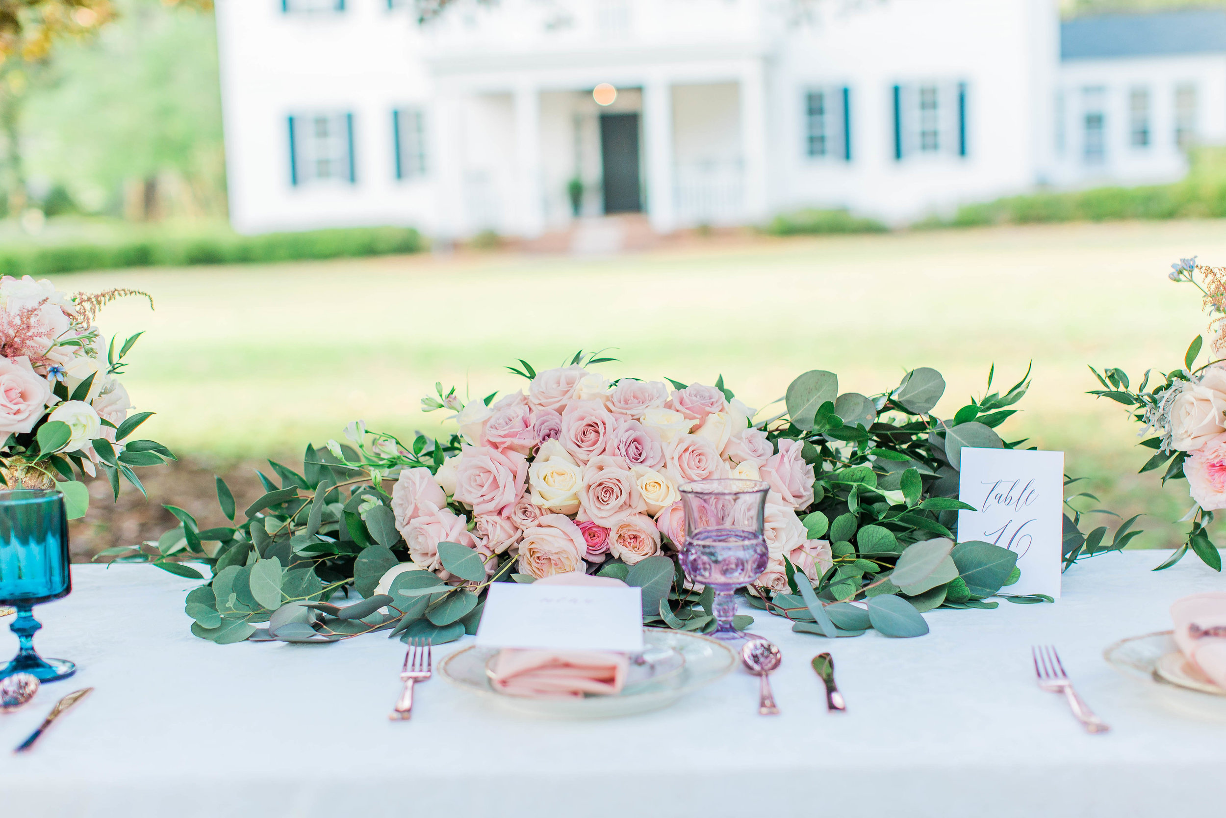 Wedding Inspiration: Pink and Blue Wedding Styled Shoot at Proctor Hall, Camden   Palmetto State Weddings