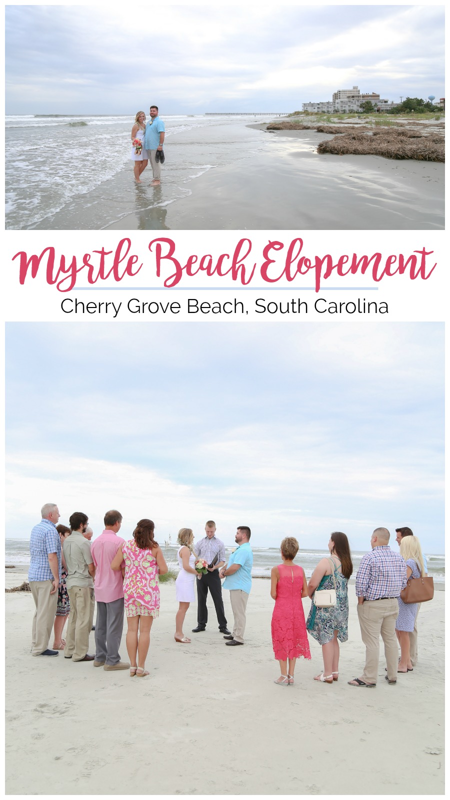 Kristin + Austin: Intimate Myrtle Beach Wedding at Cherry Grove Beach | Palmetto State Weddings | Megan Kaley Photography | beach wedding South Carolina | where to get married in Myrtle Beach