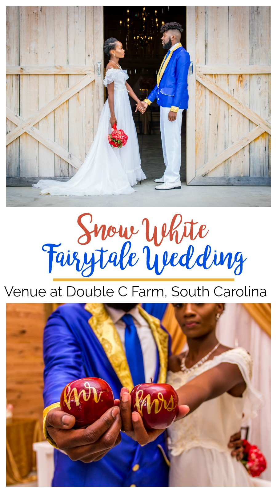 Wedding Inspiration: Fairytale Wedding Styled Shoot at the Venue at Double C Farm | Palmetto State Weddings | where to get married in Florence, South Carolina | Southern wedding inspiration | blue, red, gold weddings