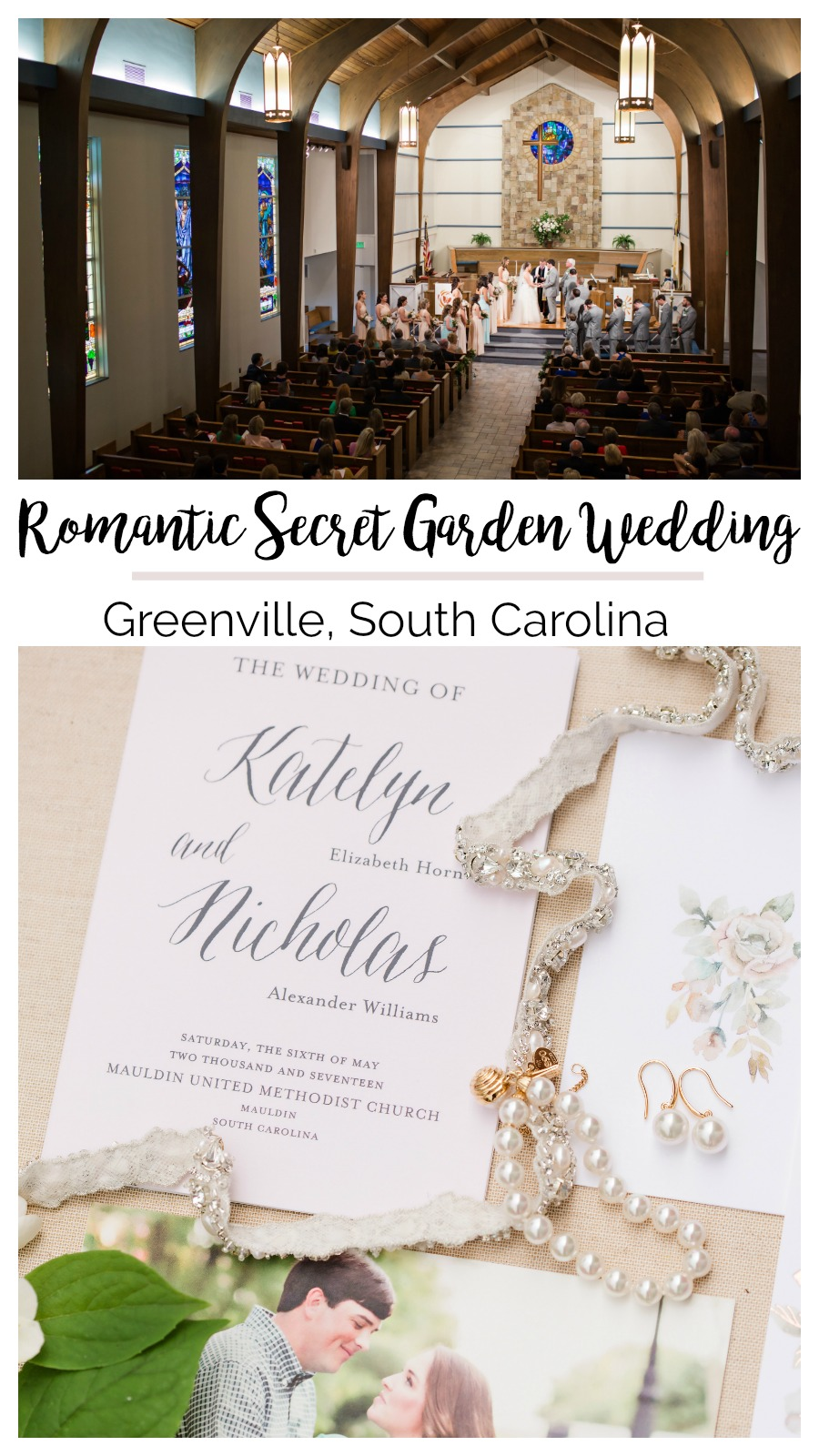 Katie + Nick: the Greenville Wedding that Launched a Career | Palmetto State Weddings | Secret Garden inspired wedding | neutral blush weddings
