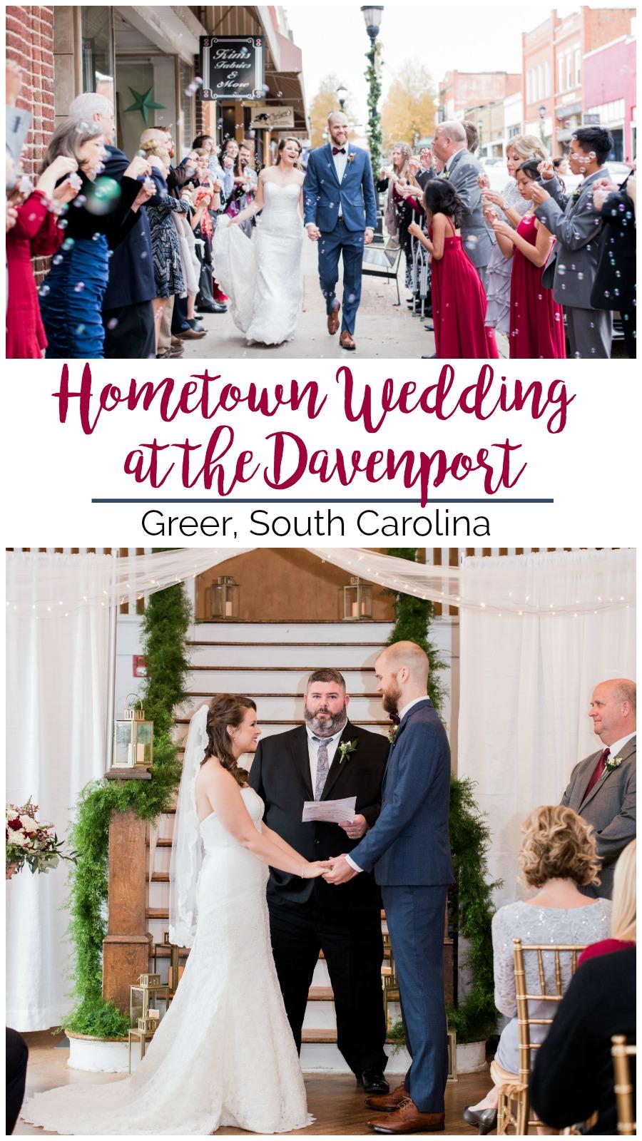 Kasey + Dillon: A Hometown Wedding at the Davenport, Greer, South Carolina   Palmetto State Weddings   Rebecca Hicks Photography