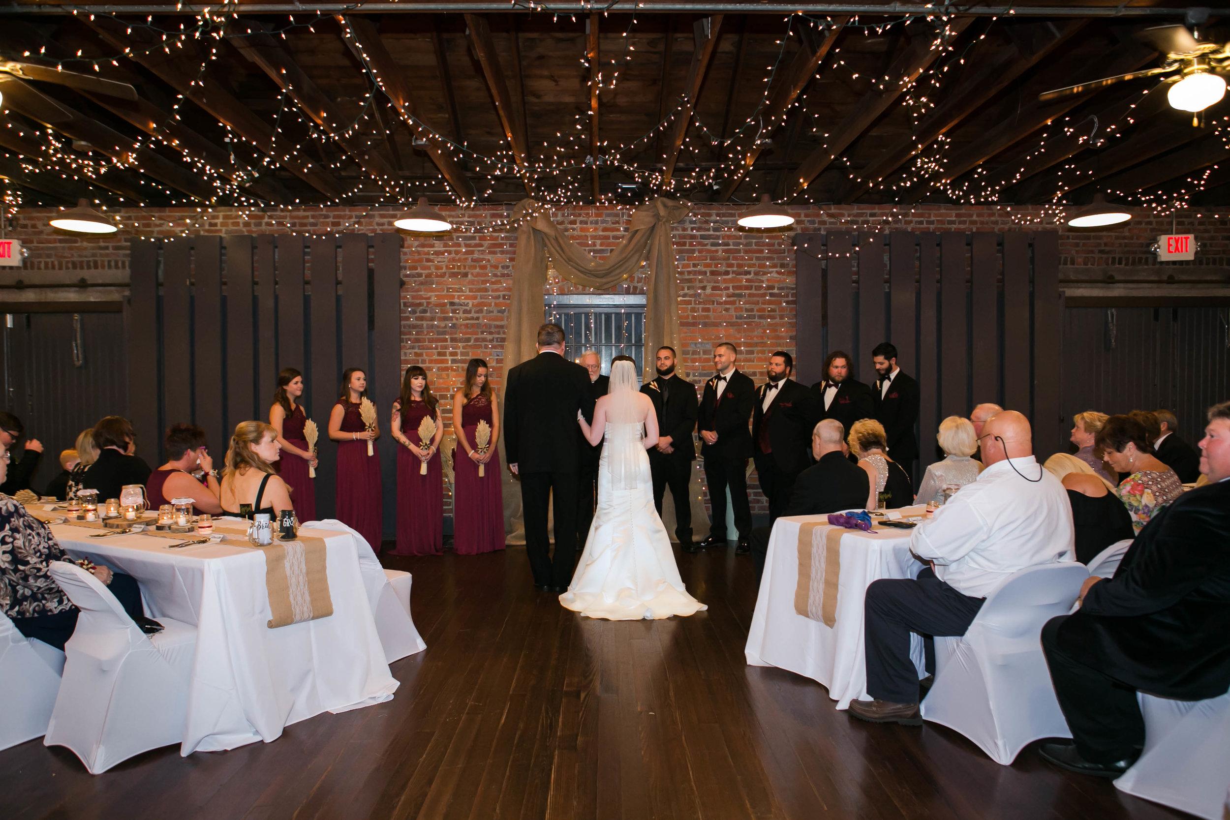 Darla + Phillip: Industrial Chic Wedding at Myrtle Beach Train Depot | Palmetto State Weddings