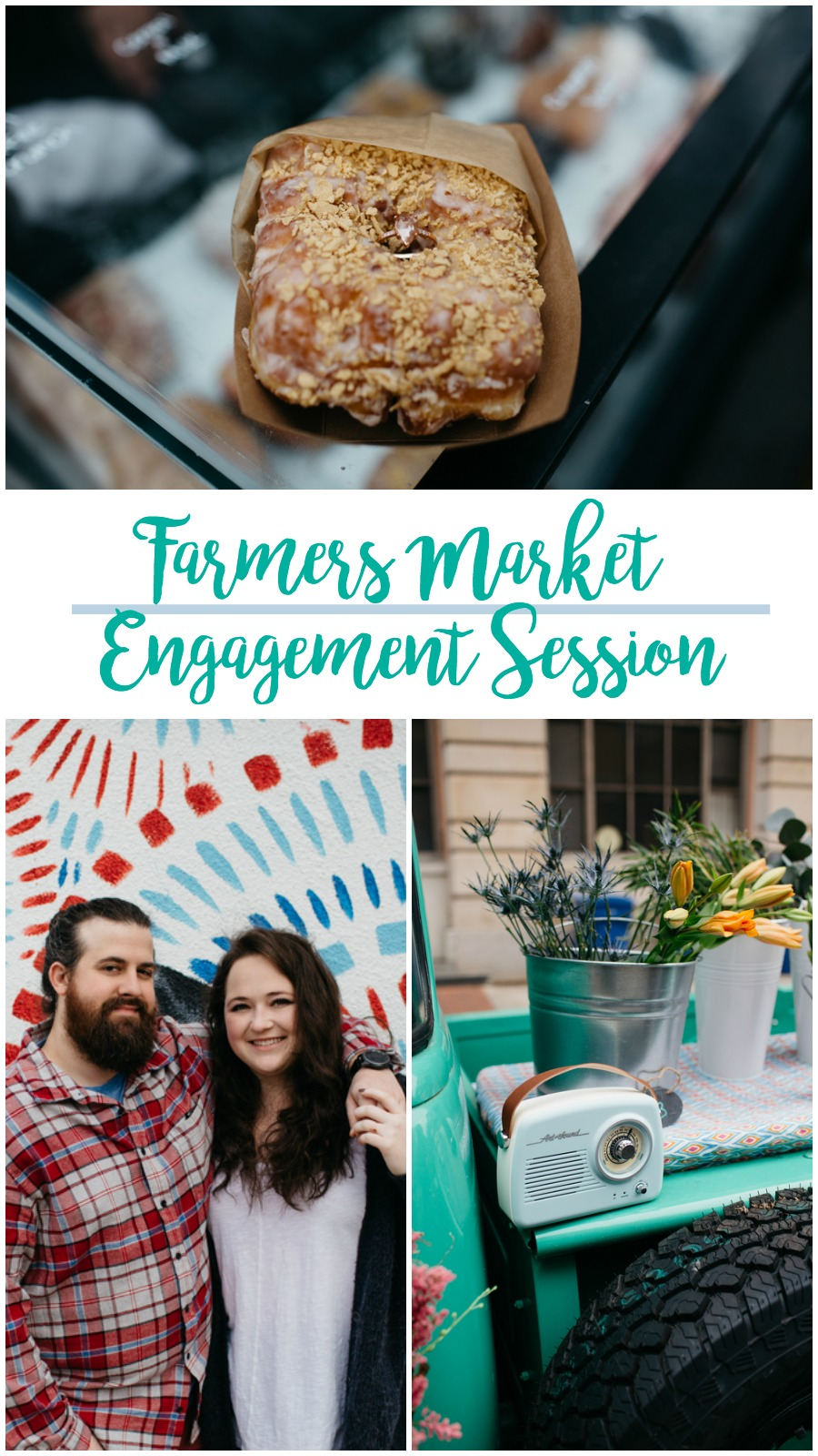 Casey and John: Fun Farmers Market Engagement Session in Downtown Columbia | Palmetto State Weddings | Alexis Schwallier Photography