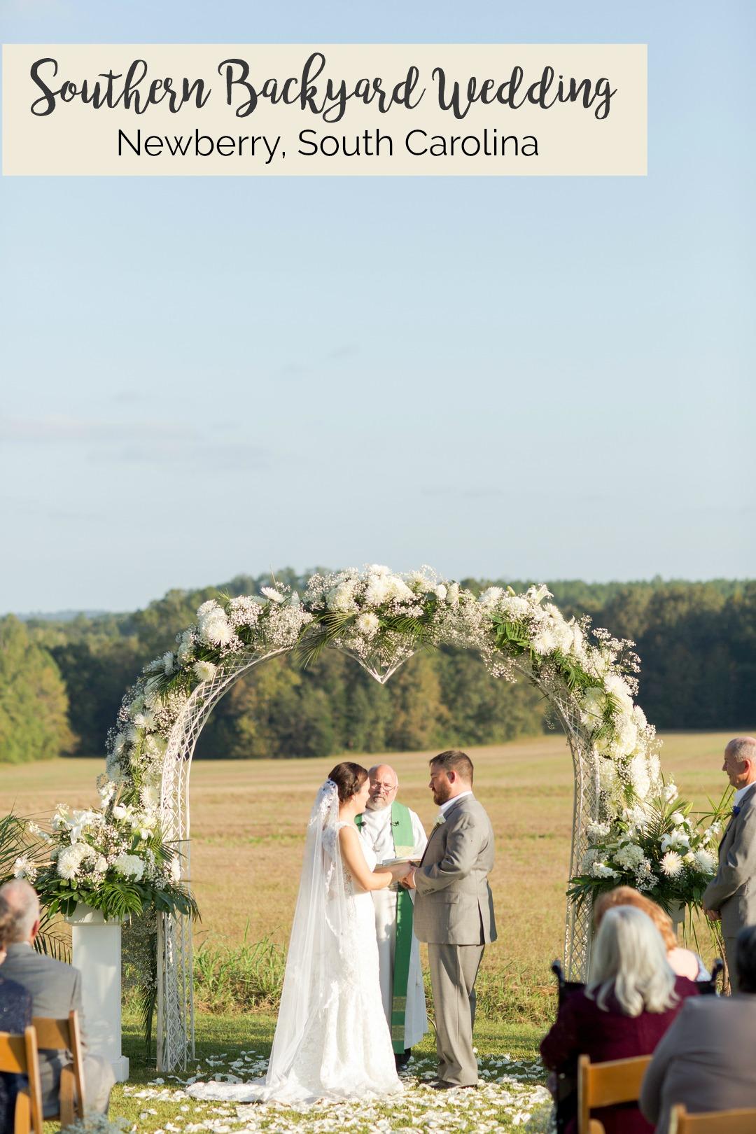 Erica + Will: Southern Backyard Wedding in Newberry, SC | Palmetto State Weddings | Jessica Hunt Photography | backyard wedding inspiration