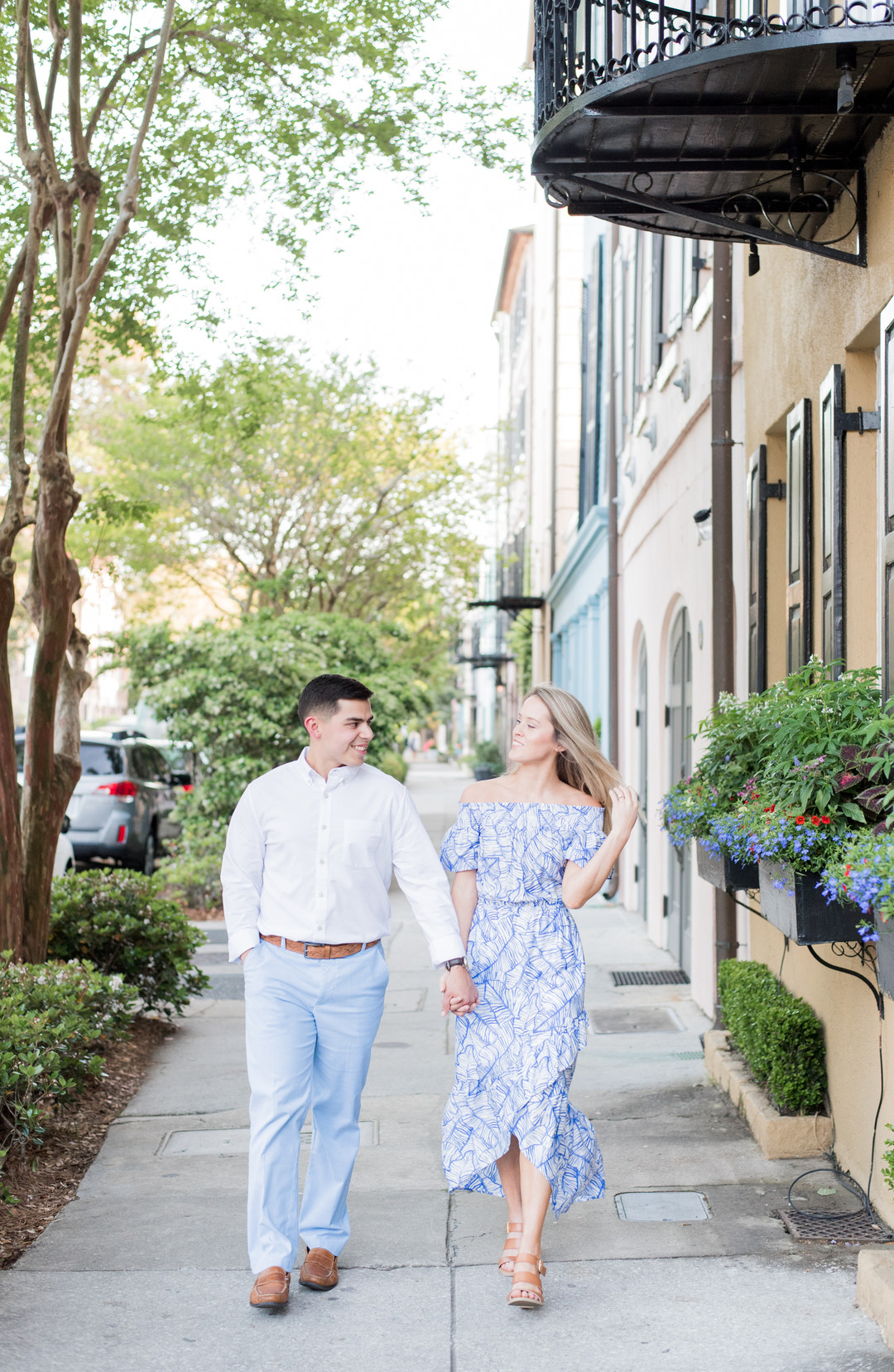 Melissa + Jonathan: Charming Downtown Charleston Engagement Session | Palmetto State Weddings