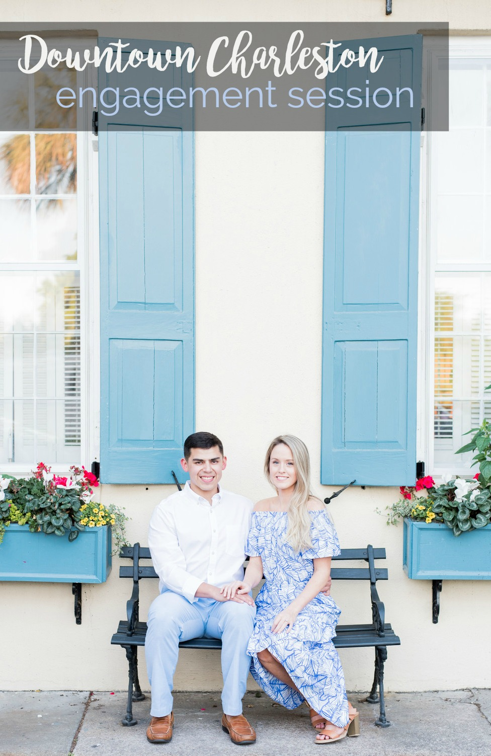 Melissa + Jonathan: Charming Downtown Charleston Engagement Session | Palmetto State Weddings | Rebecca Hicks Photography