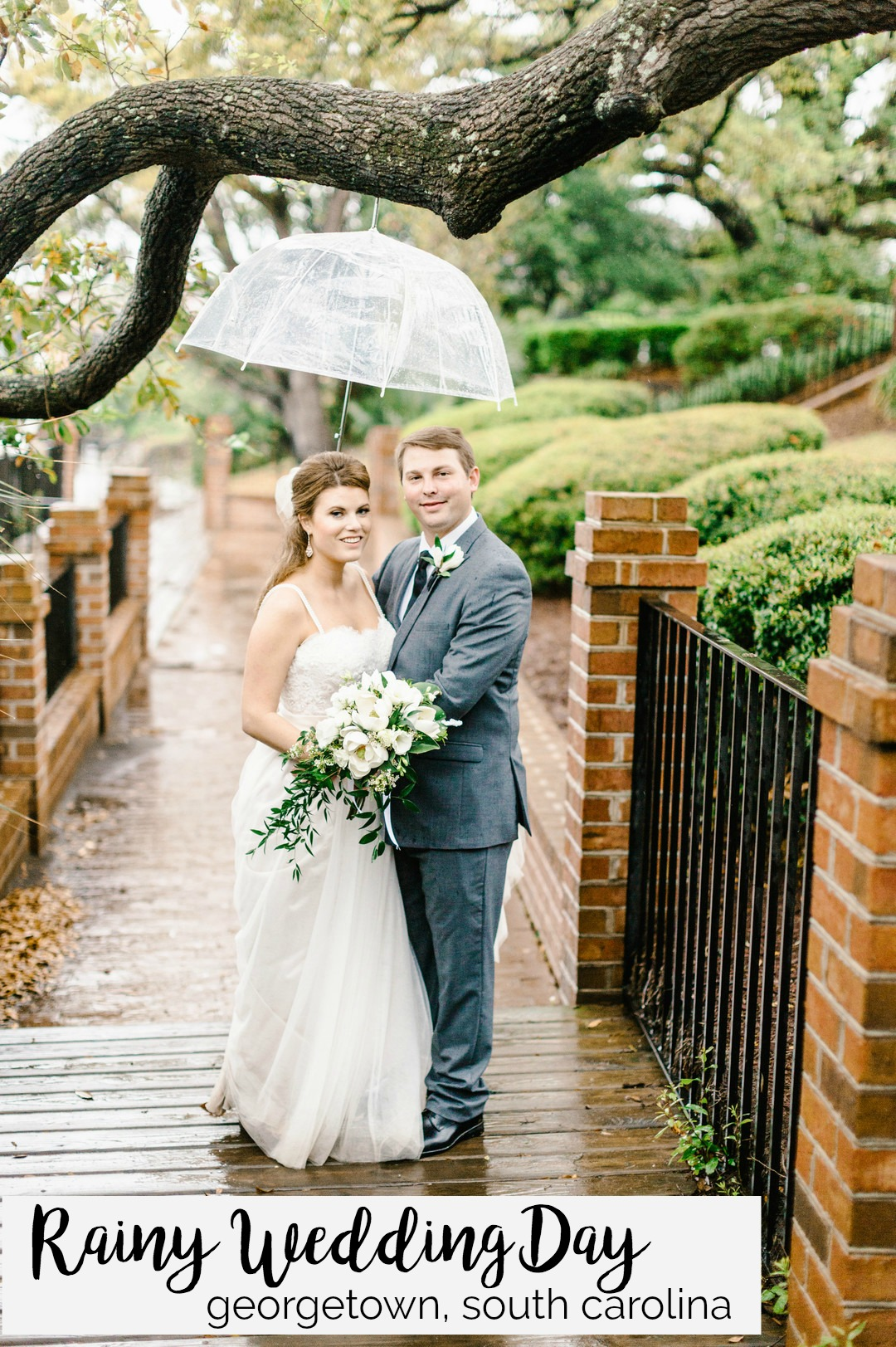 Morgan and Stephen: Rainy Wedding day at the Kaminski House Museum, Georgetown, South Carolina | Palmetto State Weddings | Stephanie Gore Photography