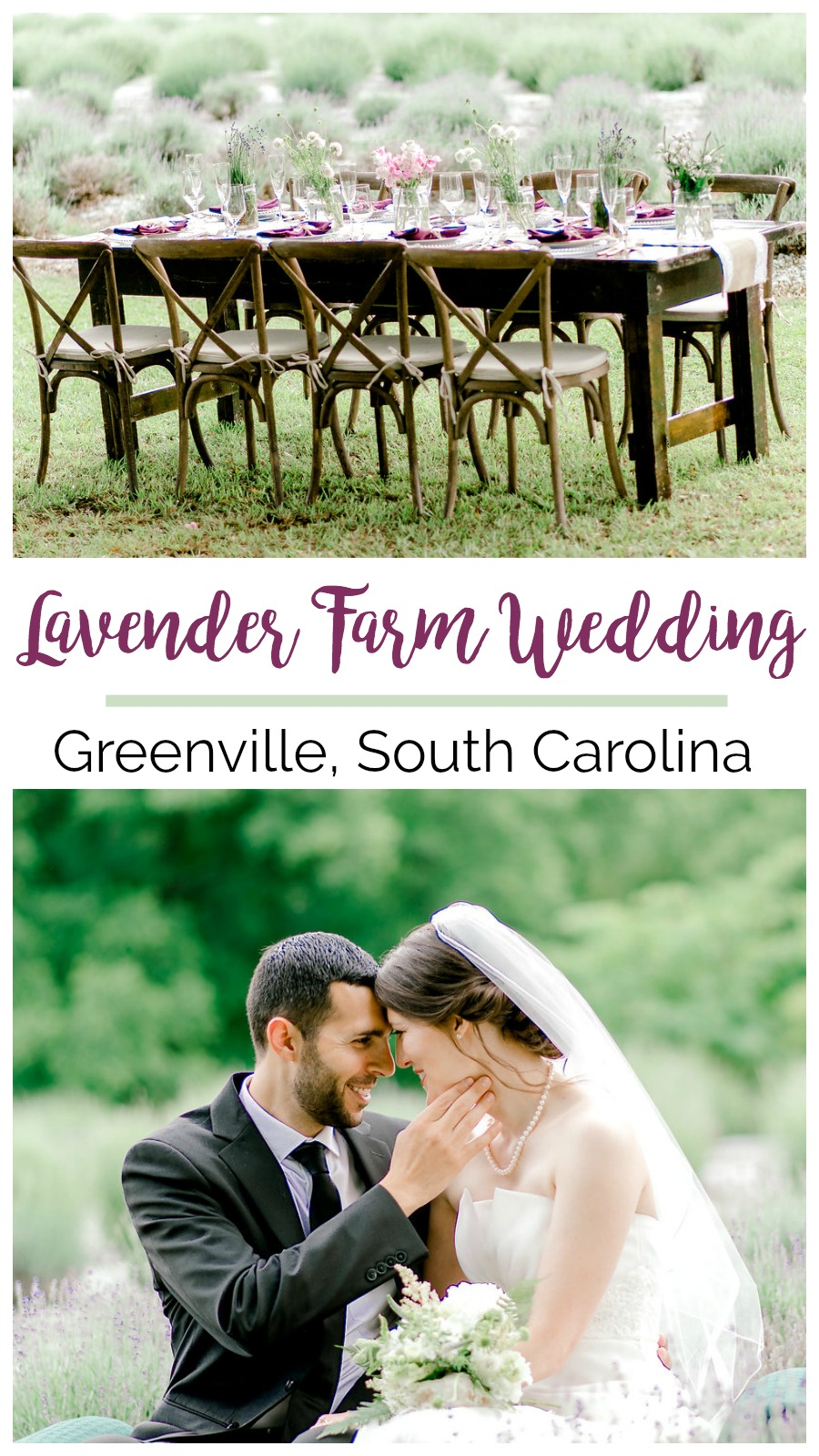 Lavender Farm Wedding Styled Shoot in Greenville County | Palmetto State Weddings | Jessica Drew Photography | rustic farm wedding inspiration | nontraditional wedding reception