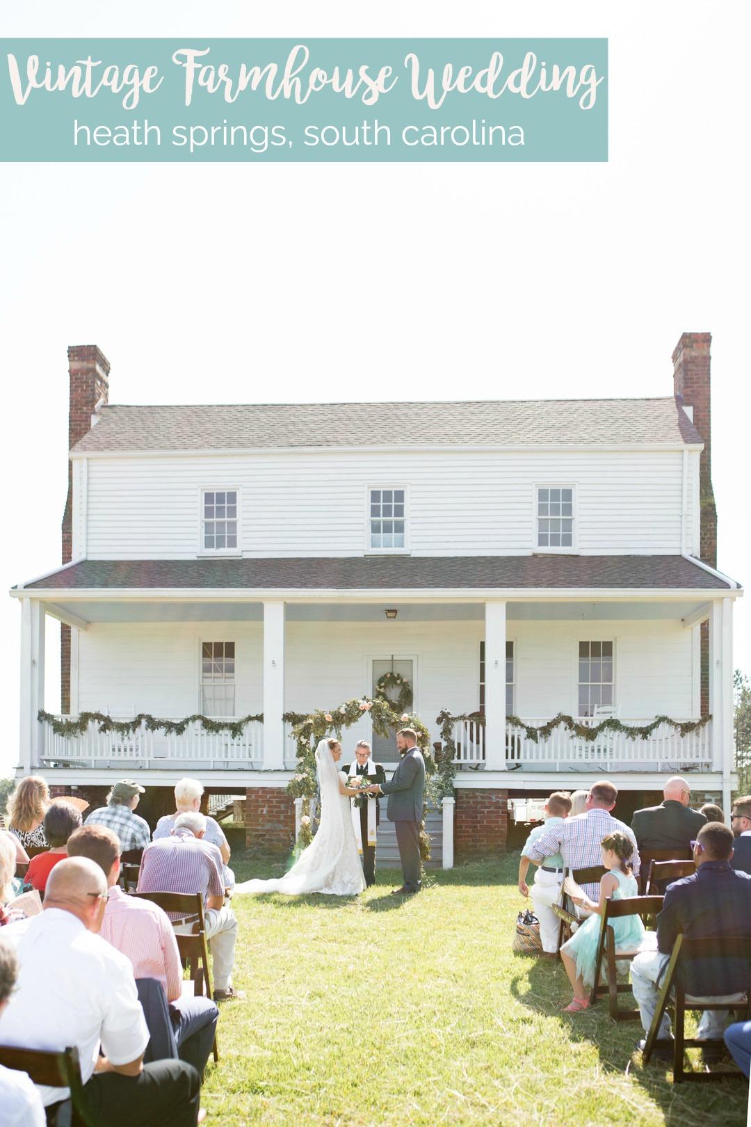 Kat + Nathan: Idyllic Farmhouse Wedding with Family History | Palmetto State Weddings | Jessica Hunt Photography | Vintage inspired wedding