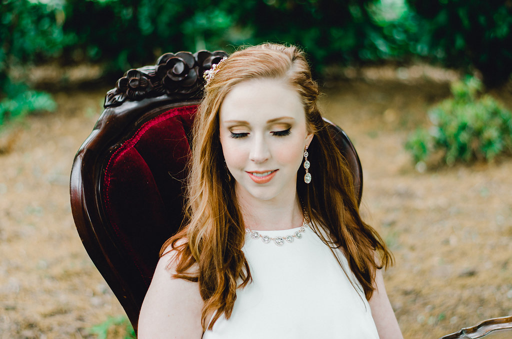 Burgundy and Gold Romantic Styled Shoot at Tirzah Farm   Palmetto State Weddings