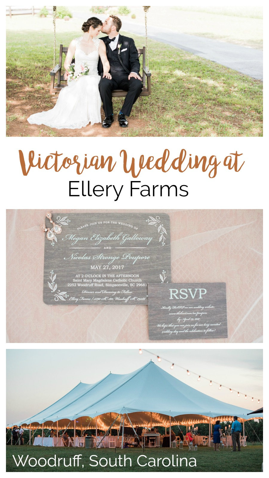 Megan and Nic: Romantic Victorian Wedding at Ellery Farms | Palmetto State Weddings | Greenville South Carolina wedding | Southern farm wedding