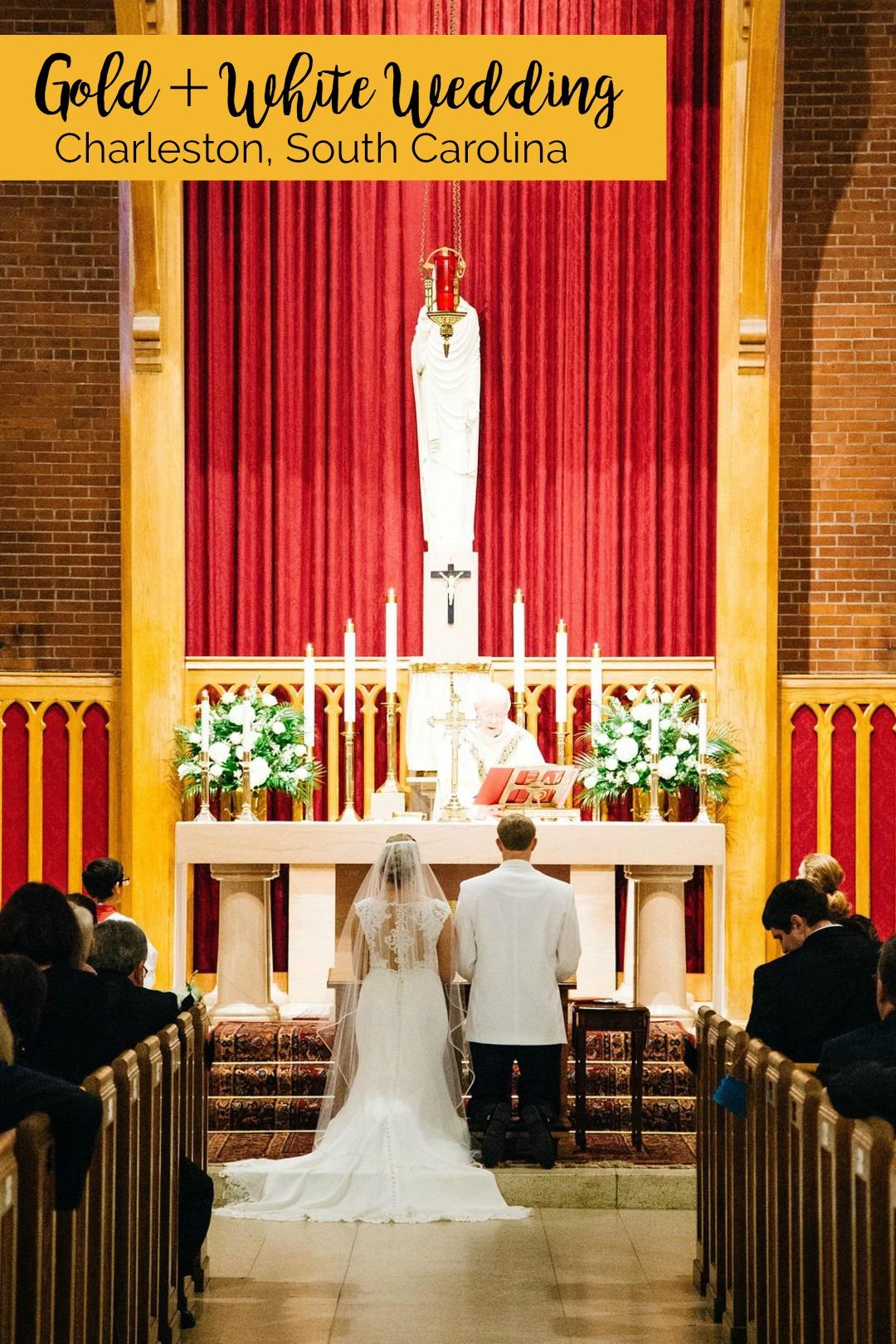 Frances and Steven: Teal and Gold Wedding at Sacred Heart Catholic Church, Charleston, South Carolina | Palmetto State Weddings | Cana Dunlap Photography | Charleston wedding