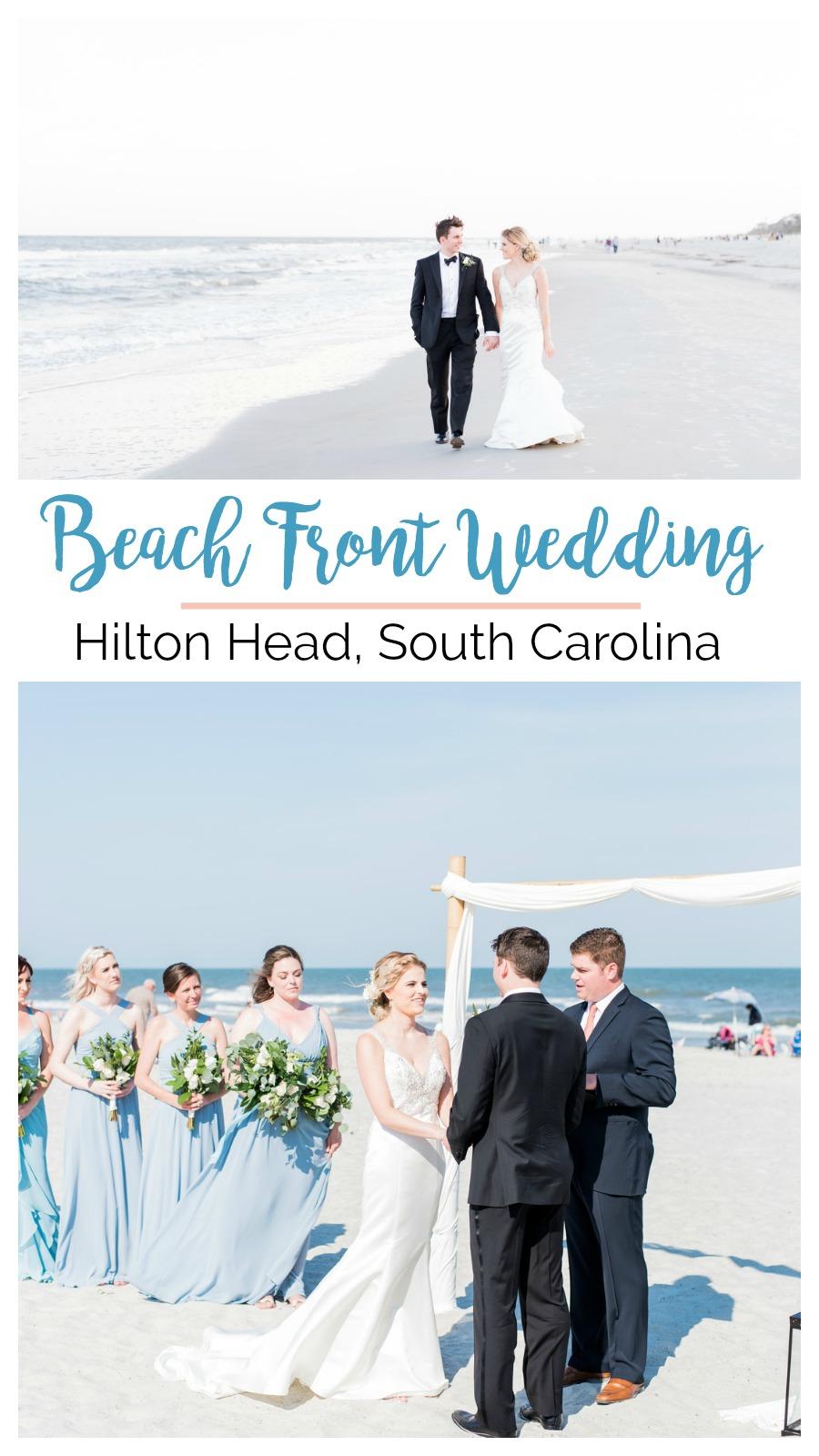 Jessica and Brian: Beach View Wedding at the Dunes House, Hilton Head Island, South Carolina   Palmetto State Weddings   beach front wedding   beach wedding inspiration
