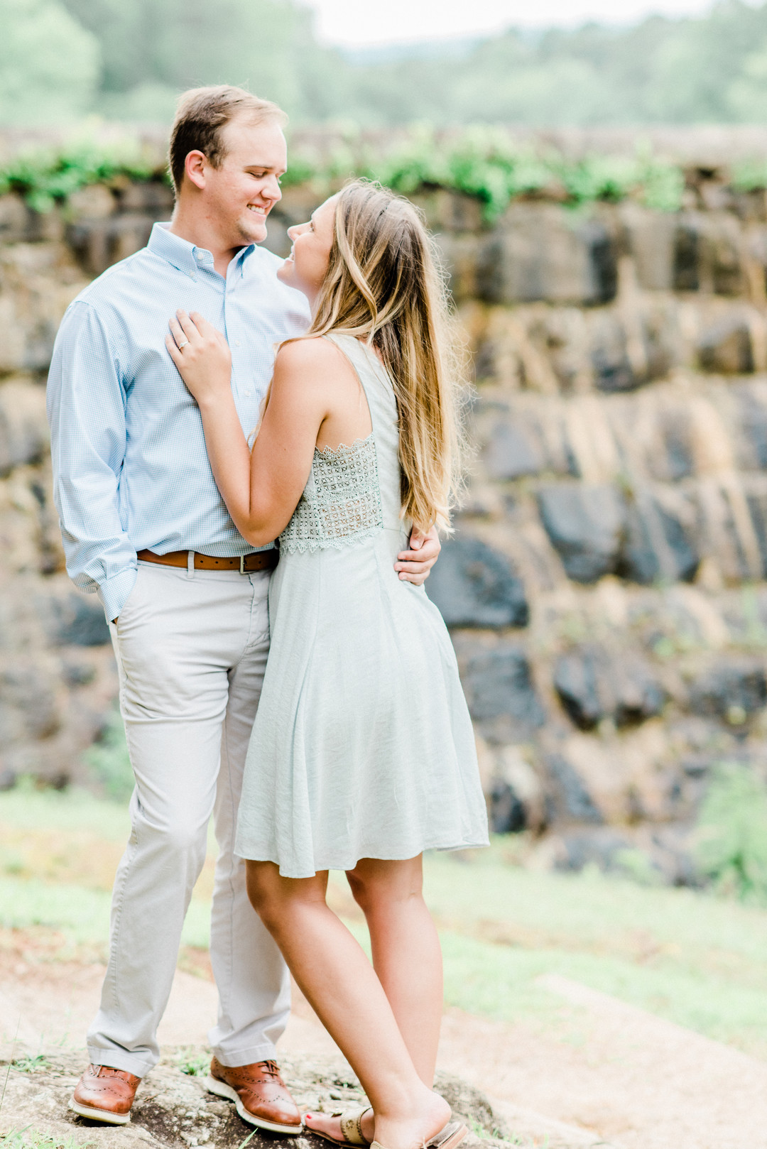 Laura + Tyler: Greenville Engagement Session at Paris Mountain | Palmetto State Weddings