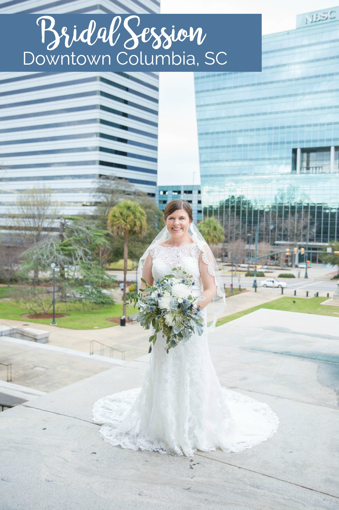 Ali's Bridal Portraits at the South Carolina State House | Palmetto State Weddings | Katie Jaynes Photography | Columbia SC wedding | Southern bride portrait