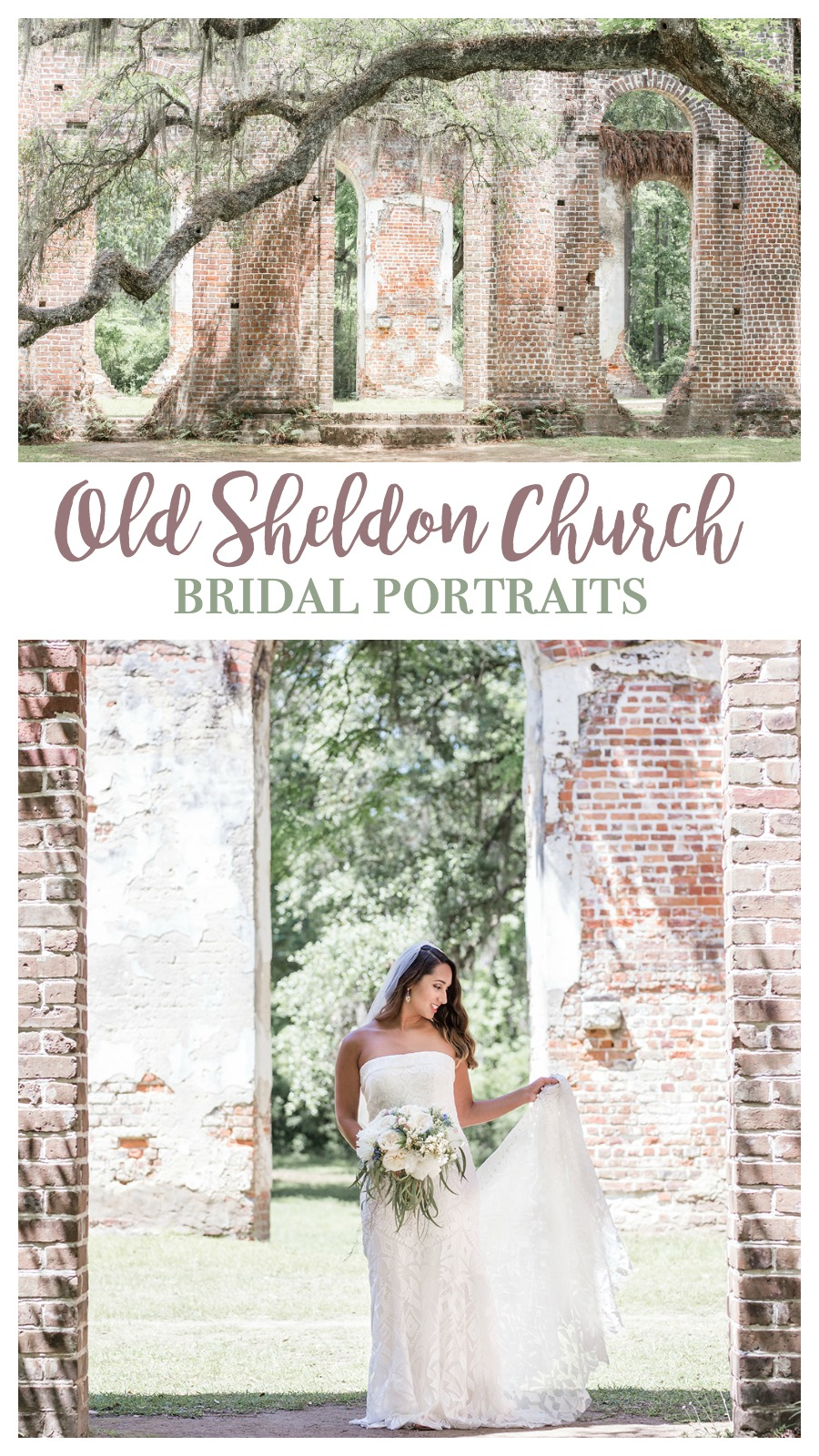 Natasha's Bridal Portraits at Old Sheldon Church Ruins, Yemassee, South Carolina | Palmetto State Weddings | Jenna Grace Photography | Charleston wedding photography | Southern wedding inspiration