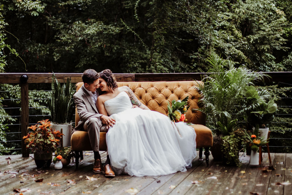 Geometric + Citrus Mid-Century Modern Wedding Shoot at Middleton Place | Palmetto State Weddings