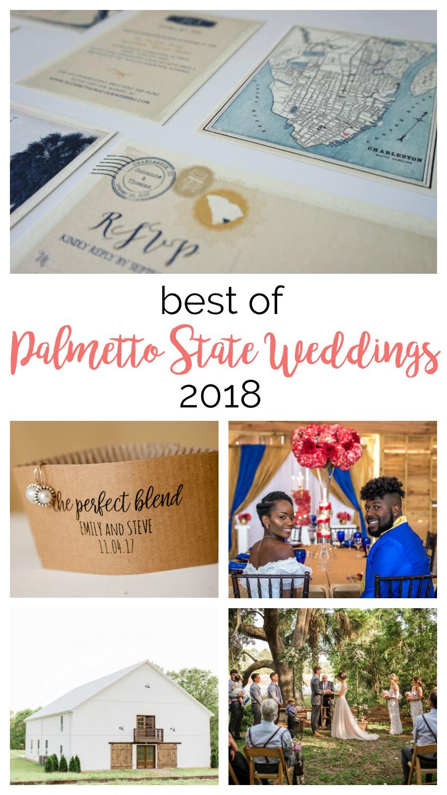 In Review: Best of Palmetto State Weddings 2018 | Charleston weddings | South Carolina barn weddings | Greenville weddings | Columbia SC wedding