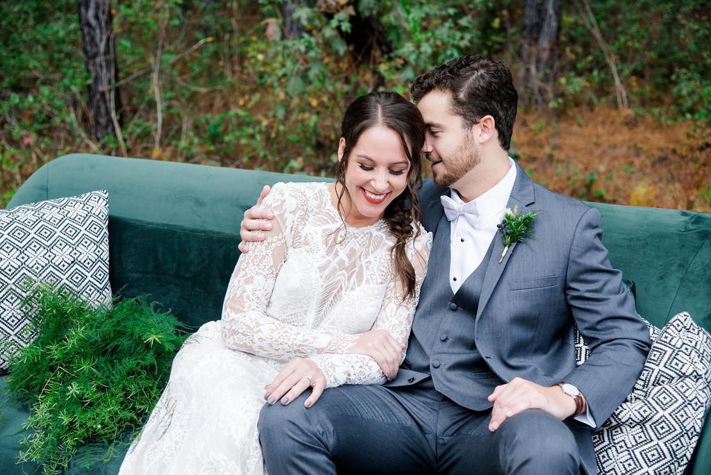 Green and Gold Winter Wonderland Wedding | Palmetto State Weddings