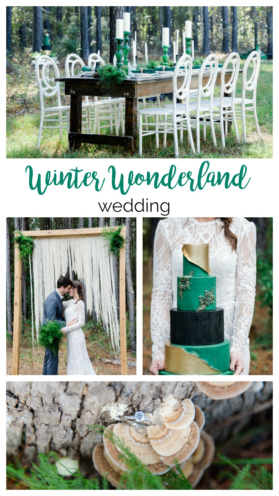 Green and Gold Winter Wonderland Wedding | Palmetto State Weddings | Leigh Heyward Photography | Charleston wedding | emerald wedding inspiration | Southern wedding inspiration