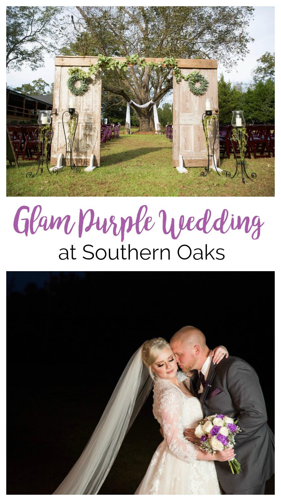 Faithe + Greg: Glam Purple Wedding at Southern Oaks, Gilbert, South Carolina | Palmetto State Weddings | Nikki Morgan Photography | farm wedding