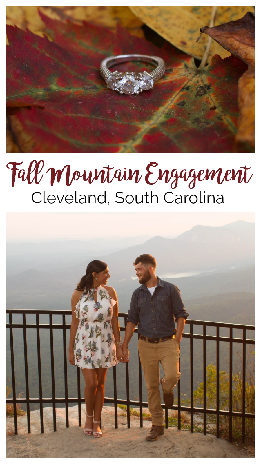 Sierra and Remington: Engagement at Caesars Head State Park | Palmetto State Weddings | Christine Scott Photography | South Carolina mountain weddings | mountain engagement ideas