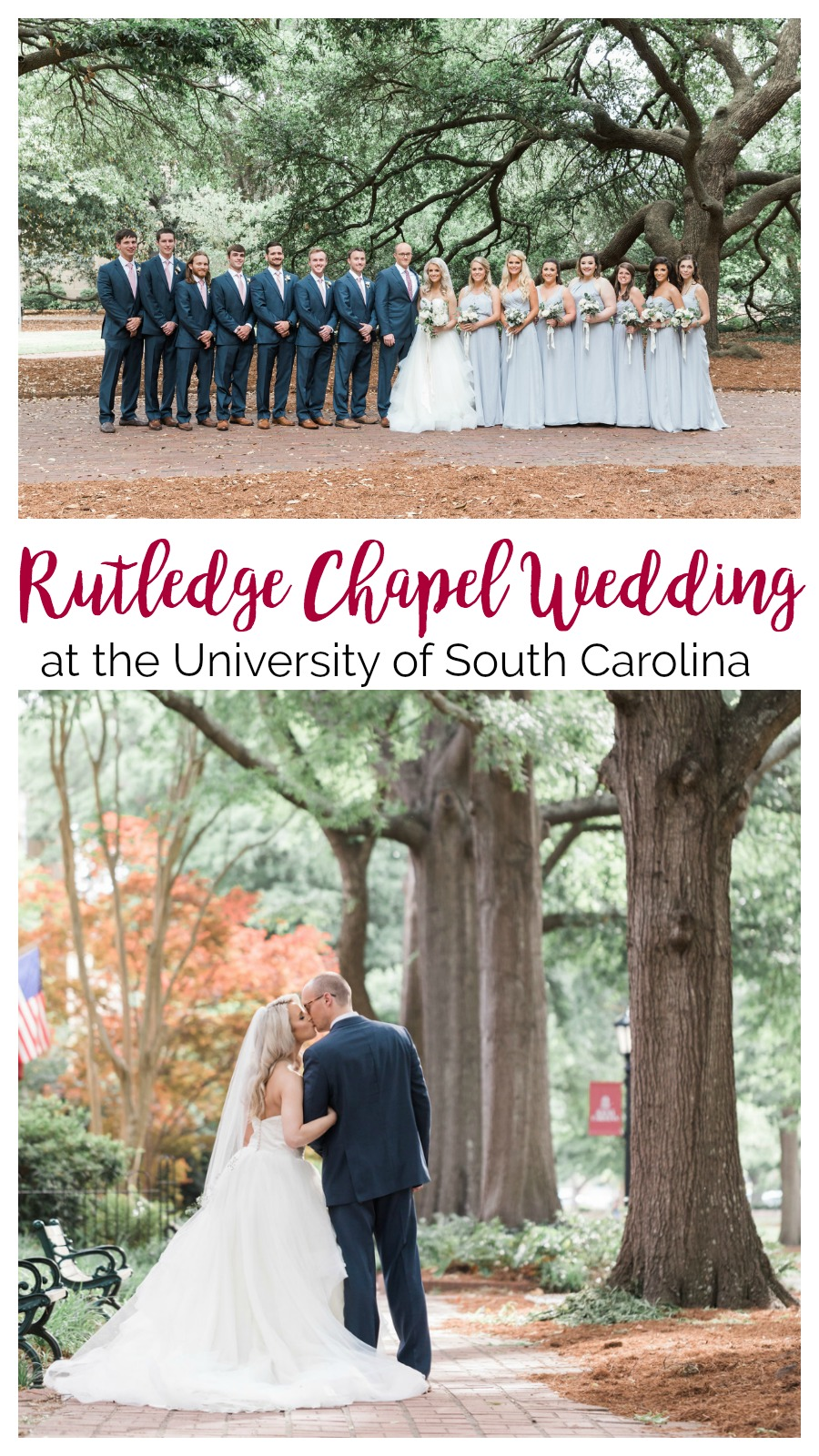 Gamble and Jordan: Rutledge Chapel Wedding at the University of South Carolina | Palmetto State Weddings | Megan Manus Photography | University of South Carolina wedding | college university wedding | Columbia SC wedding