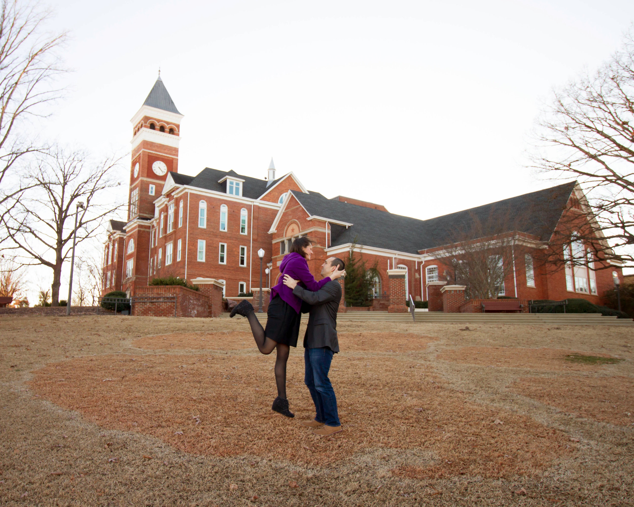 Diana + Andrew: Engagement Session at Clemson University | Palmetto State Weddings