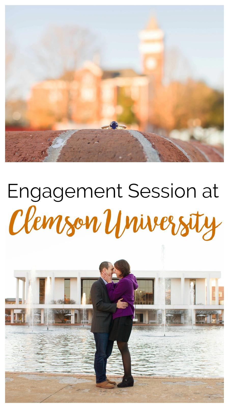 Diana + Andrew: Engagement Session at Clemson University | Palmetto State Weddings | Christine Scott Photography | Clemson wedding | South Carolina wedding