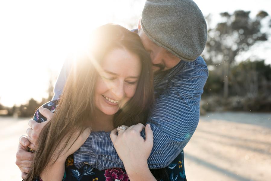 Tara + Travis: Sunset Engagement Session at Botany Bay | Palmetto State Weddings