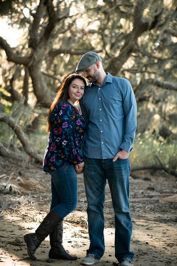 Tara + Travis: Sunset Engagement Session at Botany Bay | Palmetto State Weddings