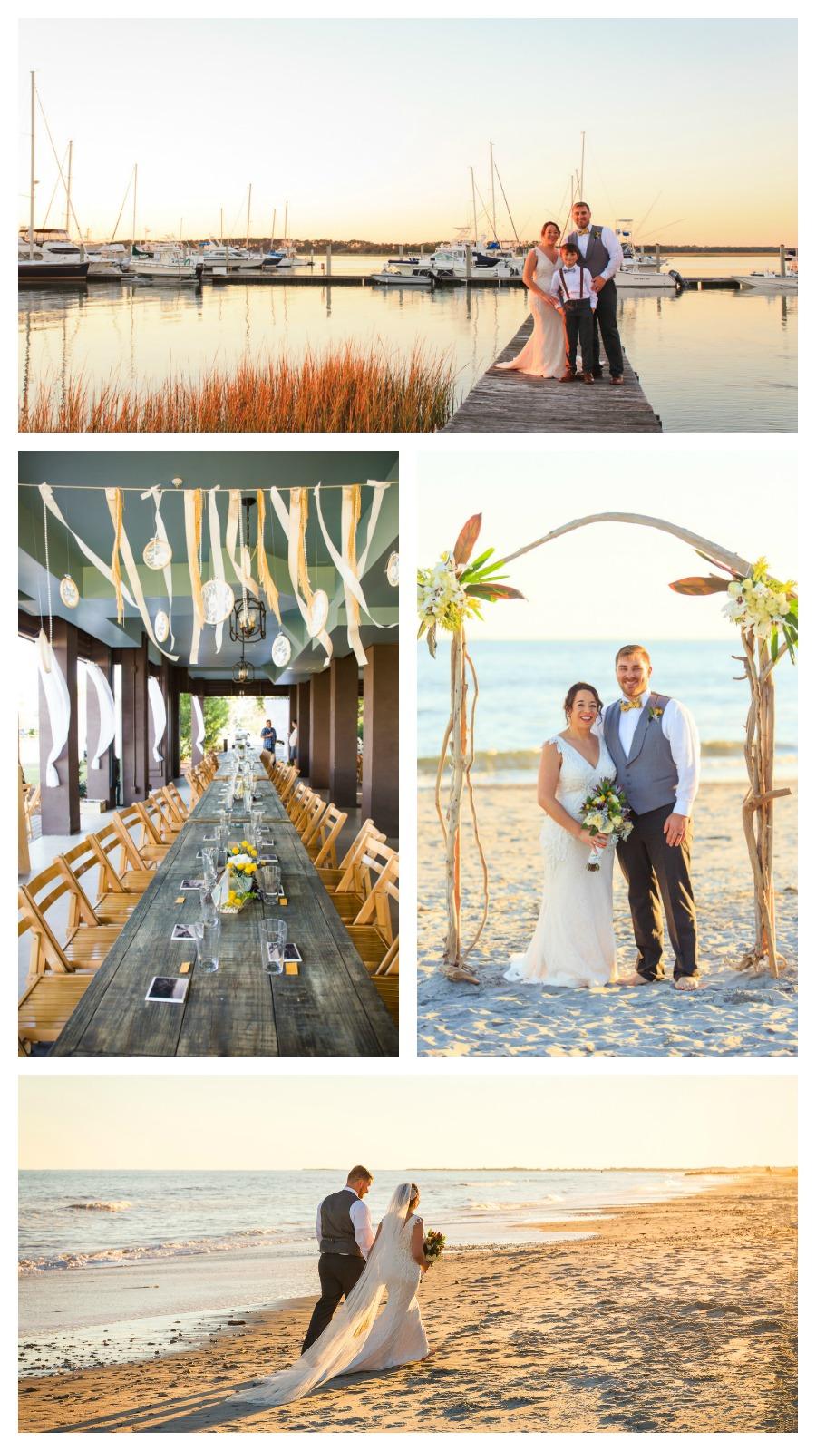 Jessi and NIck: Beachfront Regatta Inn Wedding on Folly Beach, South Carolina | Palmetto State Weddings | Diana Deaver Photography | South Carolina beach wedding | Southern beach wedding | Folly Beach wedding