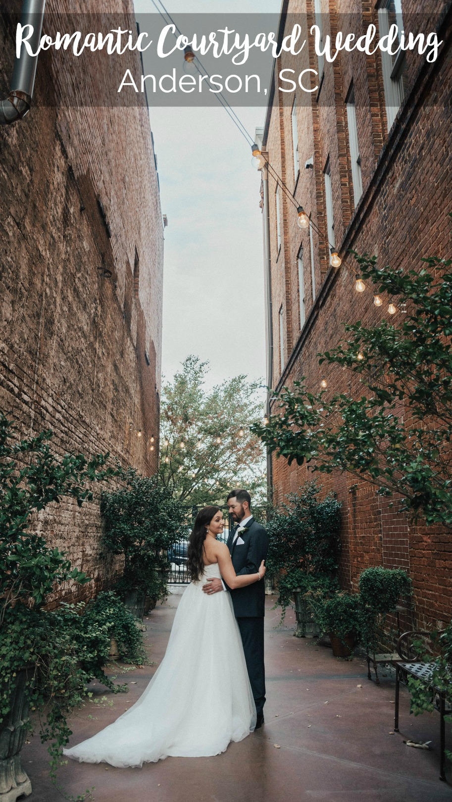 Valerie and Matt: Romantic Courtyard Ceremony at the Bleckley Inn, Anderson, South Carolina | Palmetto State Wedding | Trinity Photography | courtyard wedding | romantic outdoor wedding