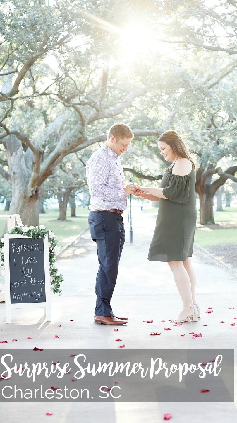 Kristen and Ryan: Surprise Engagement at White Point Garden, Charleston, SC | Palmetto State Weddings | Charlie Martin Photography | Charleston proposal | Charleston photographer