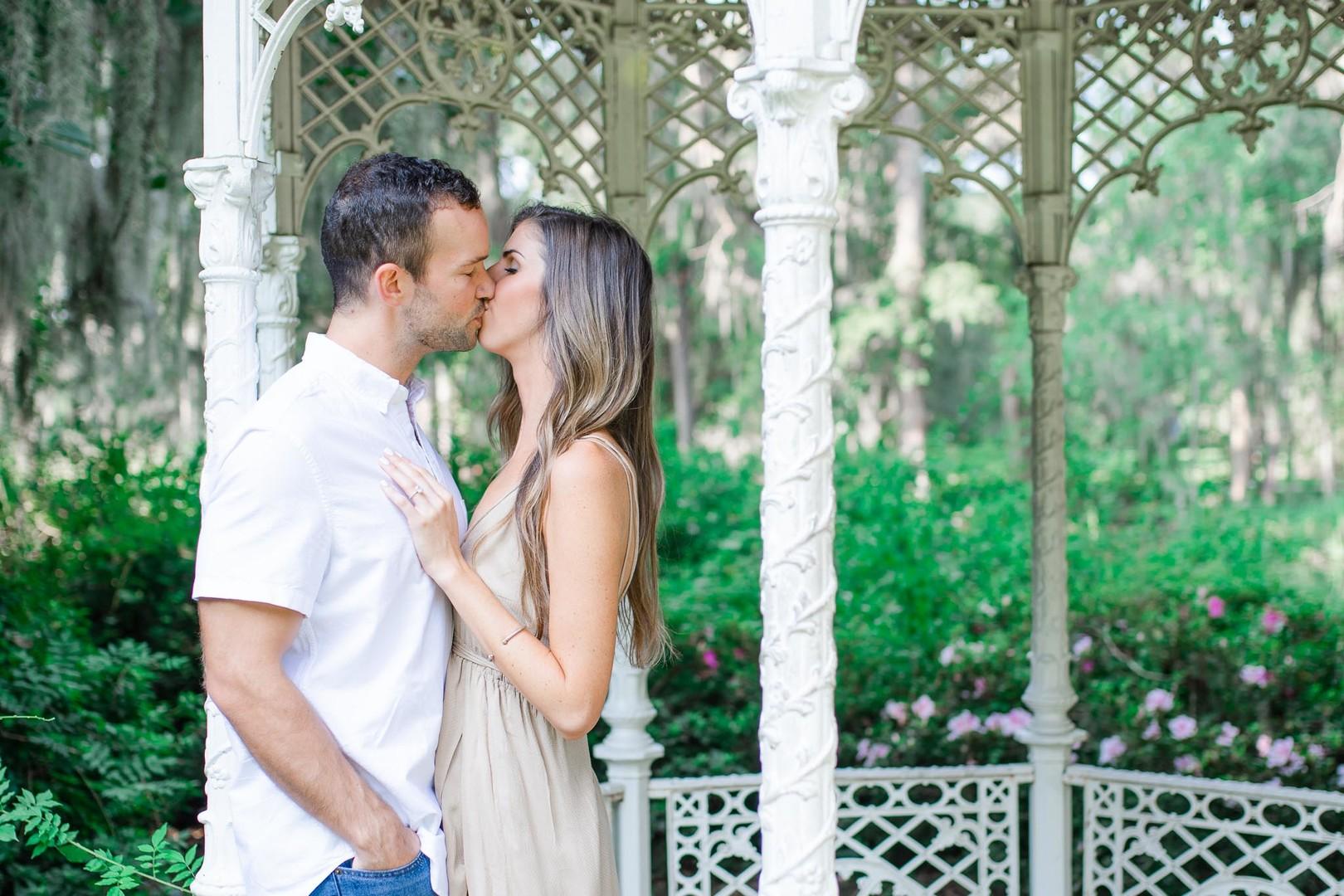Lauren + Zac: Captivating Garden Engagement Session at Magnolia Plantation | Palmetto State Weddings
