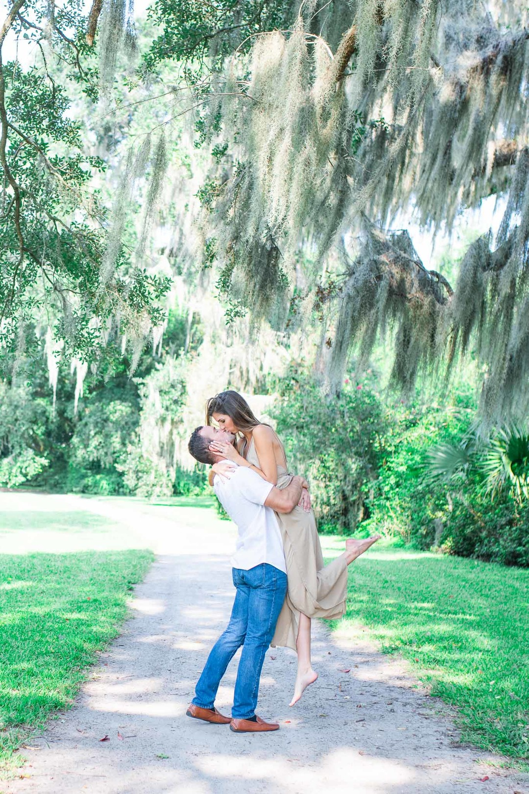 Lauren + Zac: Captivating Garden Engagement Session at Magnolia Plantation | Palmetto State Weddings