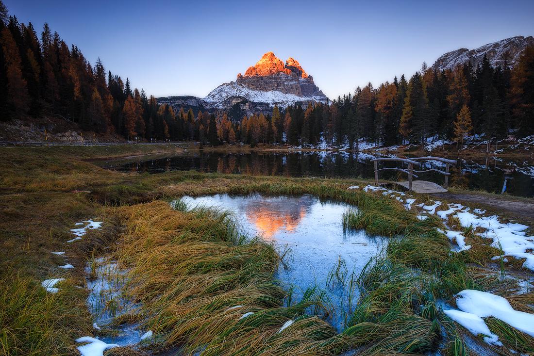 (Antorno lake, Dolomites)