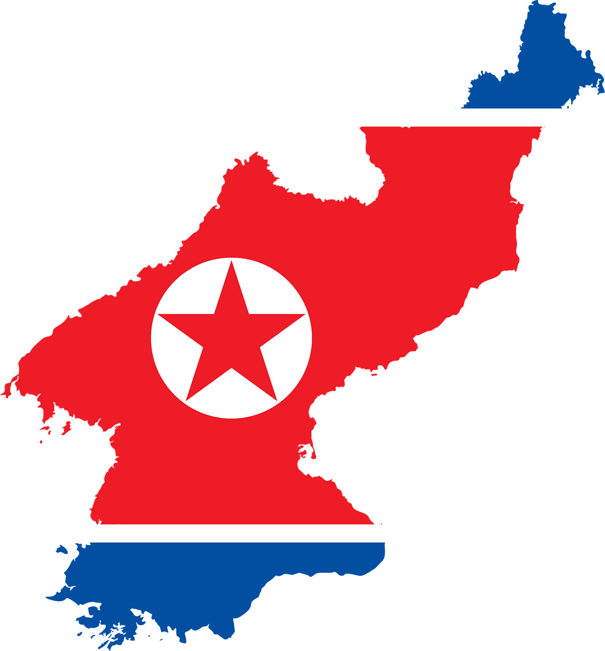 Map of North Korea DPRK